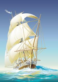 札幌整体治療院 谷井治療室 帆船イラスト