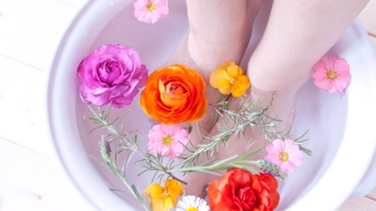 ぎっくり腰のための足湯