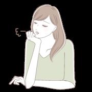 ストレス女性イラスト