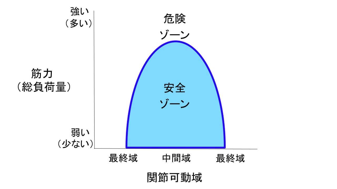 「損傷の法則」逆Uの字型のグラフ